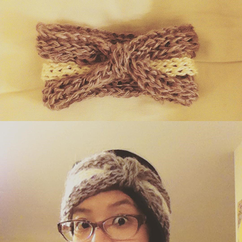 fingerknitted headband